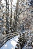 Schneeweg Stockfotos
