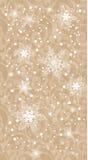 Schneeweihnachtshintergrund Stockfoto
