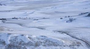 Schneewiese lizenzfreie stockfotos