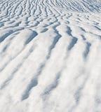 Schneezeilen Stockfotos