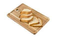 Schneidebrett mit Brot Lizenzfreies Stockfoto