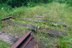 Schneiden Sie alte Schiene Lizenzfreies Stockfoto