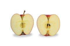 Schneiden Sie Apfelisolat auf weißem Hintergrund Stockbilder