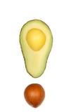 Schneiden Sie Avocado Lizenzfreie Stockbilder
