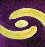 Schneiden Sie Bananenpurpurfarbe Lizenzfreie Stockfotografie