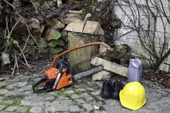 Schneiden Sie Brennholz Lizenzfreies Stockbild