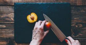 Schneiden Sie den Pfirsich Lizenzfreie Stockfotografie