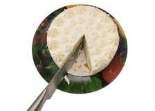 schneiden Sie den schönen lokalisierten Kuchen Stockfoto