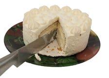 schneiden Sie den schönen lokalisierten Kuchen Lizenzfreie Stockbilder