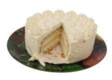 schneiden Sie den schönen lokalisierten Kuchen Stockbild