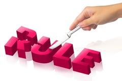 Schneiden Sie die Regel Lizenzfreies Stockbild