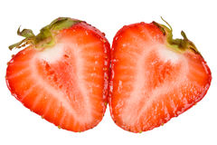 Schneiden Sie Erdbeere Lizenzfreies Stockfoto