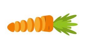 schneiden Sie Gemüsekarotte lokalisiertes Ikonendesign Stockfotografie