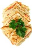 Schneiden Sie geröstete Sandwiche Stockfotos