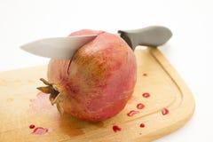 Schneiden Sie Granatapfel Lizenzfreies Stockbild