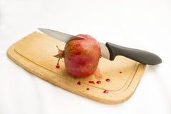 Schneiden Sie Granatapfel Lizenzfreie Stockfotos