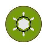 Schneiden Sie Kiwi auf weißem Hintergrund lizenzfreie stockfotos