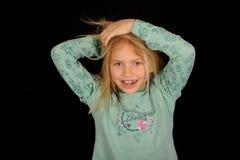Schneiden Sie kleines Mädchen Stockfotografie