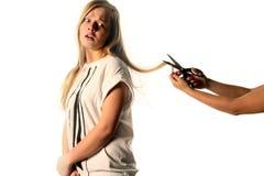 Schneiden Sie nicht mein Haar ab Stockbilder
