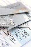 Schneiden Sie oben Kreditkarte Stockfoto