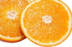 Schneiden Sie Orangen Lizenzfreie Stockbilder