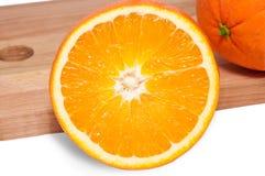 Schneiden Sie Orangen Lizenzfreies Stockfoto