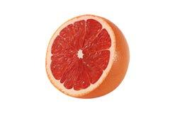 Schneiden Sie Pampelmusenfrüchte auf weißem Hintergrund stockbild