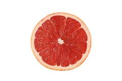 Schneiden Sie Pampelmusenfrüchte auf weißem Hintergrund lizenzfreies stockfoto