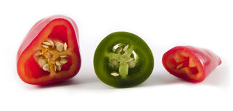 Schneiden Sie Pepper10 Lizenzfreies Stockfoto