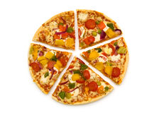 Schneiden Sie Pizza Stockfoto
