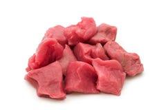 Schneiden Sie rohe Rindfleischverkleidung Lizenzfreies Stockfoto