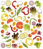 Schneiden Sie rohes Gemüse lizenzfreie abbildung