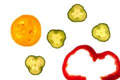 Schneiden Sie rohes Gemüse Lizenzfreie Stockfotos