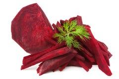 Schneiden Sie rote Rübe Stockfoto