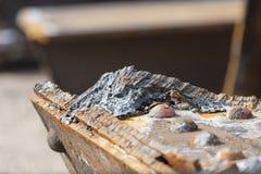 Schneiden Sie Rusty Steel Detail Lizenzfreie Stockfotografie