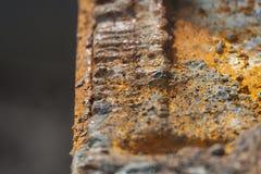 Schneiden Sie Rusty Steel Detail Lizenzfreie Stockfotos