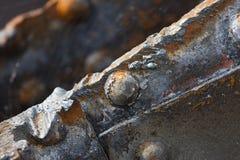 Schneiden Sie Rusty Steel Detail Stockbild