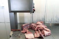 Schneiden Sie Schweinefleisch Stockfoto