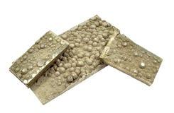 Schneiden Sie Streifenkathoden-Nickelplatten Stockbilder