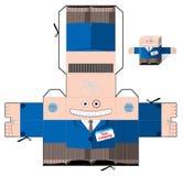Schneiden Sie und falten Sie Papierbüroangestellten Stockbild