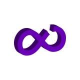 Schneiden Sie Unendlichkeitssymbol Flache isometrische Ikone oder Logo 3D Art Picto Lizenzfreies Stockfoto