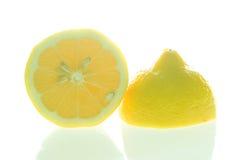Schneiden Sie Zitrone Lizenzfreies Stockfoto