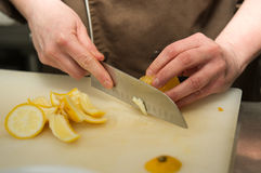 Schneiden Sie Zitrone Lizenzfreies Stockbild