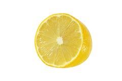 Schneiden Sie Zitronenfrüchte auf weißem Hintergrund stockfotografie