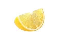 Schneiden Sie Zitronenfrüchte auf weißem Hintergrund lizenzfreie stockbilder