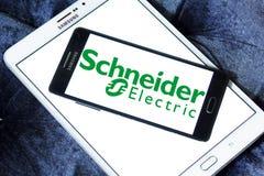 Schneider Electric-Energiekonzernlogo Lizenzfreie Stockfotos