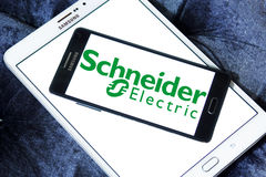 Schneider Electric energy company logo Royalty Free Stock Photos