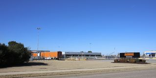 Schneider transport, västra Memphis, Arkansas Royaltyfri Bild
