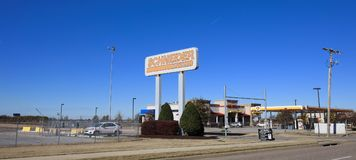 Schneider Trucking Empresa, Memphis ocidental, Arkansas Foto de Stock