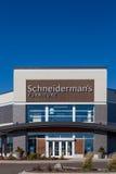Schneiderman`s Furniture Store. WOODBURY, MN/USA - NOVEMBER 13, 2016: Schneiderman`s furniture store exterior and log. Schneiderman`s is a chain of furniture stock photography